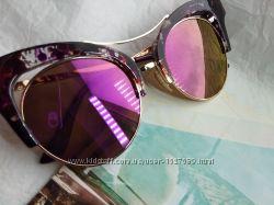 Итальянские очки зеркальные очень красивые оригинал