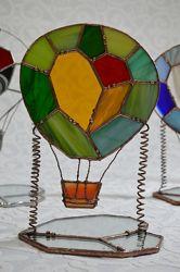 витражный подарок светильник подсвечник воздушный шар