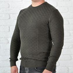 Легкий мужской свитер цвета хаки Tony Montana Турция