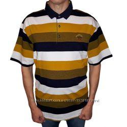 Мужская рубашка поло Paul&Shark в полоску большой размер