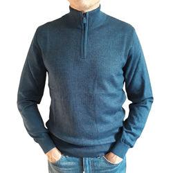 Синий мужской свитер Tony Montana Турция с высокой стойкой