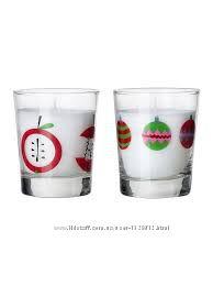 свечи ароматические в стакане И обычные  ИКЕА  SNОMYS  арт 702. 363. 11