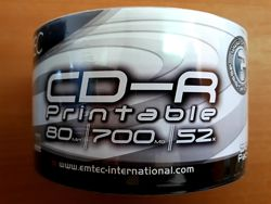 CD-R 700 Mb чистые диски под печать Emtec, HP, Alerus, CMC ОПТ Киев