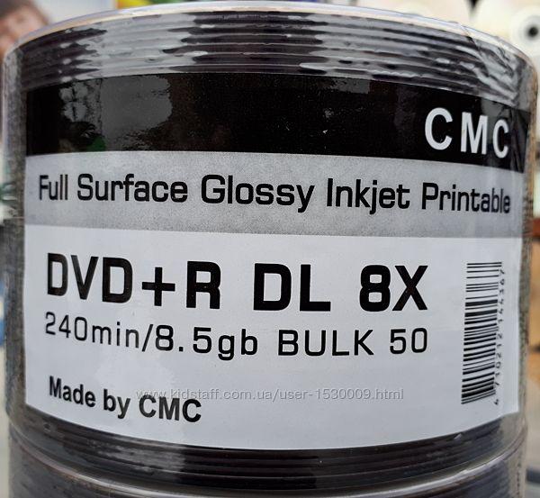 DVDR DL 8. 5Gb CMC чистые двухслойные диски DVD9