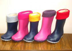 Детские резиновые сапоги с утеплителем