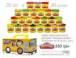 Play-doh Hasbro набор пластилина Весёлый автобус плей-до, тесто для лепки