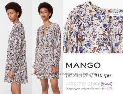 Mango свободное  платье до колена, с длинным рукавом оригинал xs-s-m, 42-46