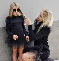 Платье фурор комплект мама дочка фемели лук