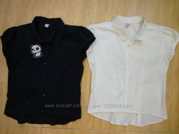 блузка кофточка школьная  хлопковая размер 11-12 лет