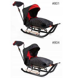 Сани FULL 3-в-1 спальный мешок  колеса  подножки  муфта