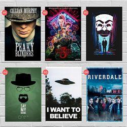 Плакаты по сериалам Игра Престолов, Ривердейл, Сверхъестественное, Друзья