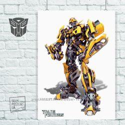 Плакаты Бамблби, Bumblebee, трансформер, автобот, десептикон, робот