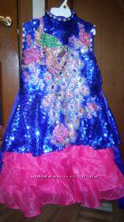Продам роскошное праздничное платье с пайетками 9-11 л