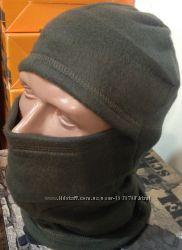 Балаклавы флис Хаки, осень - зима