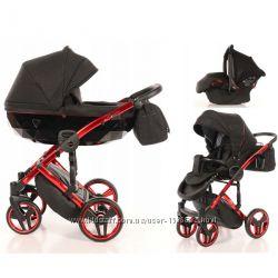 Детская коляска 3 в 1 Tako Junama Diamond Individual 01 красная рама