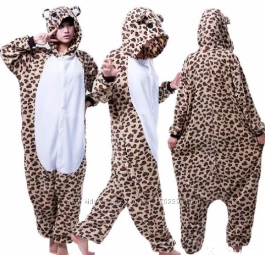 Кигуруми Леопард теплая стильная пижама в наличии e2c56461476a6
