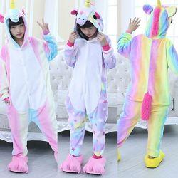 пижама Кигуруми Единорог детская, в наличии, быстрая доставка