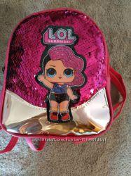 Рюкзаки детские с куклой ЛОЛ с паетками меняющими цвет  для девочек