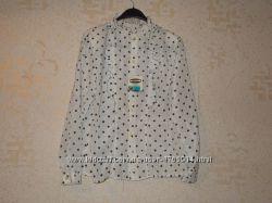 Новая винтажная ретро блуза в горохгорошек р. 48-50xl