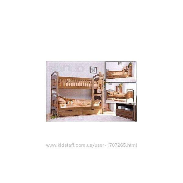 Кровать двухъярусная с ящиками и матрасами. Акция.