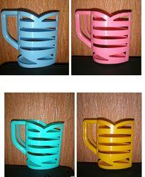 Подставка чашка держатель для пакетов молока, кефира, ряженки 4 цвета