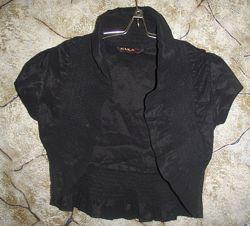 Болеро чёрное строгое без рукавов. Размер 42-44.