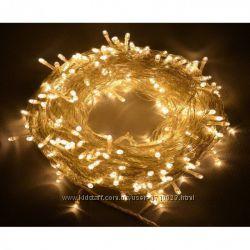 Гирлянда светодиодная LED 300  Gold 18 метров