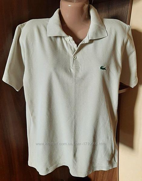 Брендовая футболка-поло  Lacoste