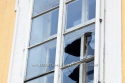 замена треснувшего стекла в стеклопакете в Харькове