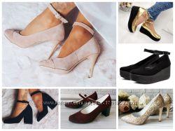 Женские туфли на каблуке и без, лоферы, закрытые туфли Натуральная кожа, за