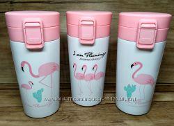 Термостакан термокружка Фламинго, термочашка, 360 мл