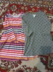Красивые платья с длинным рукавом H&M на 4-6 лет, состояние новых