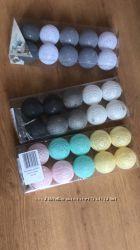 Гирлянда тайские шарики Decorino Toledo Cotton Balls 10led, диам 6см