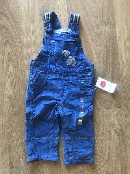 Новый тёплый комбинезон штаны Cool club, рост 62 и 80 см