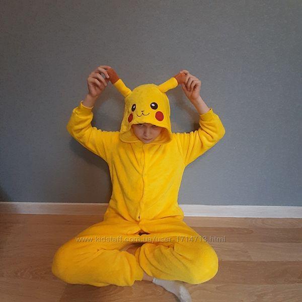 Пижама Кигуруми Покемон Пикачу детская / кігурумі Покемон Пікачу