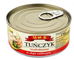 Тунець подрібнений в олії 170г  Польша