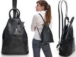 Женский кожаный городской рюкзак Италия