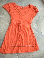 Туніка футболка оранжева