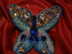 Брошь ручной работы Бабочка