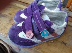 Демисезонные кожаные ботинки для девочки 24 р 15 см
