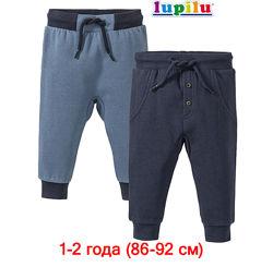 Штаны теплые 1-2 года Lupilu с начесом утепленные для мальчика хлопок