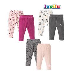 Набор штаны 12-24 мес Lupilu велюровые спортивные детские домашние брюки