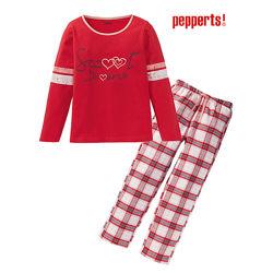 Пижама для девочки 6-10 лет Pepperts домашняя одежда домашний костюм