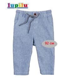 Брюки льняные 18-24 мес Lupilu штаны для мальчика летние