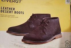 Кожаные ботинки дезерты Livergy Lidl Германия