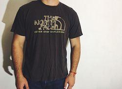 Мужская футболка The North Face Норс ТНФ ХЛрр оригинал коричневая