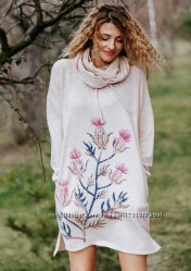 Новая коллекция теплых женских пижам и платьев  фирмы key