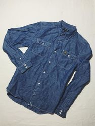 Мужская рубашка Lyle Scott Лайл Скотт Мрр идеал оригинал голубая