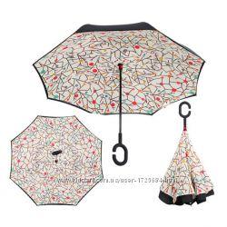 Зонт обратного сложения Up-brella Абстракция Номер-51