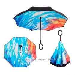 Зонт обратного сложения Up-brella Закат Номер-47